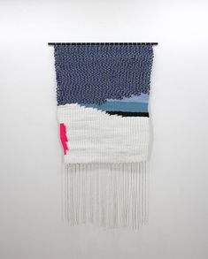 Ben Barretto is an American artist who, in addition to painting, creates woven wall hangings Tapestry Weaving, Bead Weaving, Colored Weave, World Crafts, Textiles, Weaving Projects, Woven Wall Hanging, Pattern Drawing, Fabric Manipulation