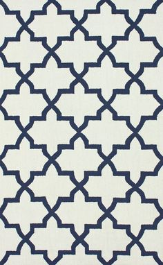 Novato Trellis 100% Wool Hand-Hooked Area Rug in Ivory design by NuLoom