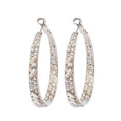 2016 fashion jewelry ISHOW  hoop earrings round circle gold earring silver lead cadmium nickel free classic hoop earring crystal