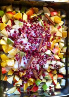Fruit mix. Ready to bake.