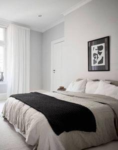 Simple monochrome bedroom