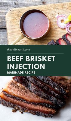 Beef Brisket Injection Recipe, Injection Marinade Recipe, Best Smoked Brisket Recipe, Smoked Meat Recipes, Recipe For Brisket, Beef Recipes, Bbq Brisket, Smoked Beef Brisket, Essen