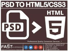 PSD to HTML5/CSS3 – Web Design Conversion ServicePsd to html5 by Fast Conversion IT Solutions (P) Ltd via slideshare