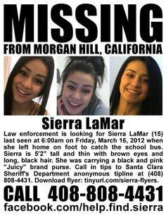 Please help find Sierra Lamar