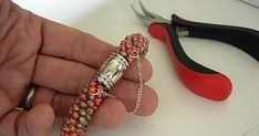 How to Add a Safety Chain to a Beaded Tube Bracelet