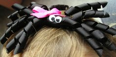 Spider hair clip!!! So cute and easy!