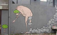 Cagacemento, un'opera dello street artist Nemo's! #milano #lombardia #streetart #nemos #ambiente #tutela #murales