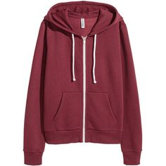 Hooded Jacket $19.99 ($20) ❤ liked on Polyvore featuring tops, hoodies, zipper top, lined hoodies, zip hoodies, zipper hoodies and red hoodies
