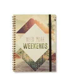 A5 Spinout Notebook 120 pages (13 CAD) ❤ liked on Polyvore featuring home, home decor and stationery