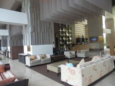 Lobby at the Millennium Hilton, Bangkok Hotel Inn, Bangkok, Family Travel, Hotels, Bed, Furniture, Home Decor, Family Trips, Decoration Home