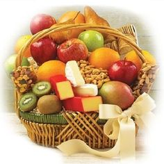 The Triple Treat Basket is a unique and beautifully presented arrangement of cheeses, fruits and accompanying delicacies that is both balanced and refined. Fruit Gifts, Food Gifts, Edible Fruit Baskets, Fruit Basket Delivery, Cheese Baskets, Fruit Love, Fresh Fruit, Fruits Basket Manga, Triple Treat