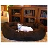 Majestic Pet Products Bagel Dog Pet Bed 52 inch Chocolate