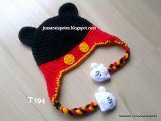 Jussara tapetes: Touca do Mickey - T194