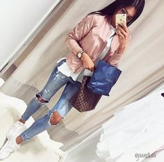 ♥ Your everyday fashion guide ♥ - Sporty Outfits, Mode Outfits, Fall Outfits, Fashion Outfits, Womens Fashion, Fashion Styles, Style Fashion, Yuya Outfits, Insta Look