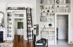 If you love reading books then you will be excited by the idea of a home library. If you have limited space in your home, you can still carve out some Small Home Libraries, A Shelf, Reading Room, Blank Walls, Nook, Floating Shelves, Home Office, Bookcase, Living Room