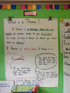 This poster explains what a theme is and helps students understand what to look for when reading a story. It relates to the Common Core standard for 5th Grade Reading Literature: 5.RL.2. Determine a theme of a story, drama, or poem from details in the text, including how characters in a story or drama respond to challenges or how the speaker in a poem reflects upon a topic; summarize the text.