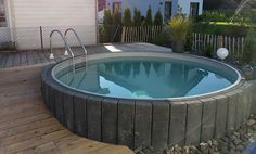 de - Build your own pool! We can help you with that!de - Build your own pool! We can help you with that!de - Build your own pool! We can help you with that! Terrace Design, Garden Landscape Design, Above Ground Pool, In Ground Pools, Piscina Oval, Backyard Sitting Areas, Build Your Own Pool, Underground Pool, Retaining Wall Design