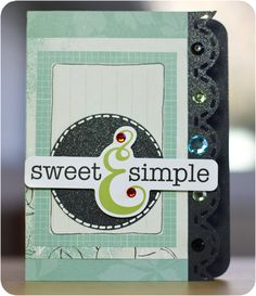 Hand made card from Creative Memories using Enchanted designer paper and midnight shimmer card stock