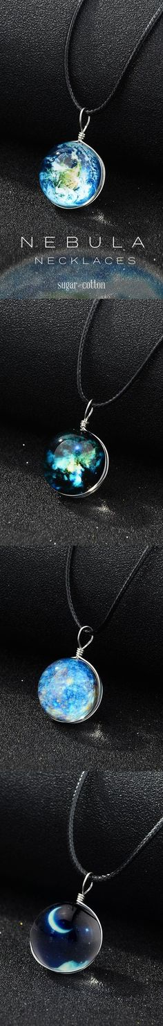 Take the treasures of the universe everywhere you go with these stunning Nebula sphere necklace! These awesome necklaces glow in the dark! Made from premium zinc alloy. Free Worldwide Shipping & Money-Back Guarantee Cute Jewelry, Diy Jewelry, Jewelry Box, Jewelry Accessories, Handmade Jewelry, Fashion Jewelry, Jewelry Making, Unique Jewelry, Jewlery