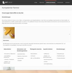This is the service page from Art Group GmbH.