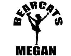 Personalized Cheerleading Decal - Custom Cheer Sticker for Cheerleaders, Mom and Family on Etsy, $4.00
