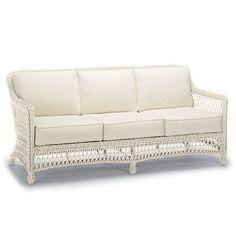 Hampton Sofa Cushions - Resort Stripe Aruba Rain, Custom Sunbrella Rain - Frontgate