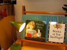 Books in the Spotlight. Parrasvaloon nostetut teokset. Tää voisi olla kiva. Vaikka päivittäinvaihtuva. Jos vaan tilaa olisi...