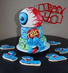 Santa Cruz Skateboards Jim Phillips Screaming Hand Birthday cake