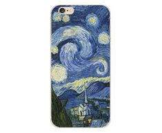 UV Print  Phone Case for iPhone 6s 6 Plus Case Emboss Artistic Van Gogh Starry Night Soft for iPhone X iPhone 8 7 Plus 5s Case - 4soft case / for iphone 8