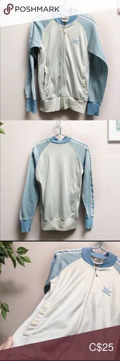 Baby blue Adidas Superstar jacket. Super warm and Depop