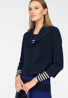 Bruno Banani Kurzblazer mit Fly-Away-Kragen