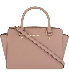 MICHAEL MICHAEL KORS - Selma medium Saffiano leather satchel | Selfridges.com Diese und weitere Taschen auf www.designertaschen-shops.de entdecken