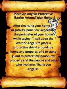 Place An Angelic Protective Barrier Around Your Home Spiritual Cleansing, Healing, Smudging Prayer, Sage Smudging, Archangel Prayers, Magick Spells, Witchcraft, Angel Warrior, Protection Spells
