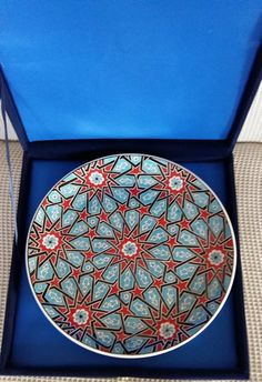 Turkish ottoman passing star iznik tile art by nurceramicarts