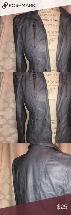 Light blue leather jacket Arden B light blue faux leather jacket, like new Arden B Jackets & Coats