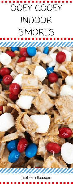 Perfect-for-all-occasions-finger-food-easy-snacks-Fourth-of-July-4th-of-July-quick-indoor-s'mores-Golden-Graham-treats-marshmallows-chocolate-m&m's-s'mores-bars-ooey-gooey-party-food-appitizer-pot-luck-crowd-pleasing
