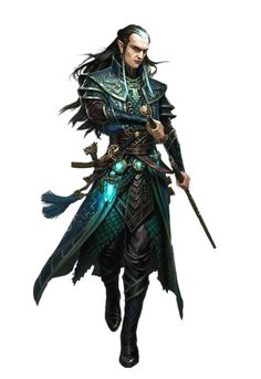 Male Half-Elf Investigator - Pathfinder PFRPG DND D&D 3.5 5th ed d20 fantasy