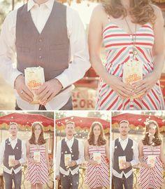 Vintage Circus Engagement Photos   Green Wedding Shoes Wedding Blog   Wedding Trends for Stylish + Creative Brides