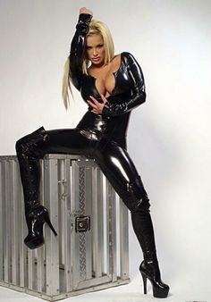 Sexy latex catsuit.