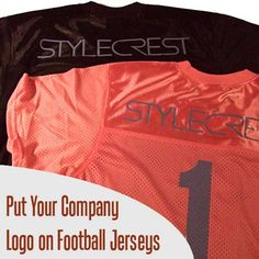 715cd06f5c6 This companies slick modern logo looked awesome on these customized  football jerseys. You can really