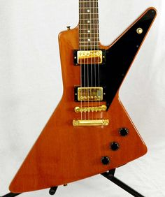The Gibson Futura, a 1997 issue modeled after the Explorer's original patent drawing proportions (and a single rare 1957 prototype). A bit more pinched and dynamic than its much better-known sibling.