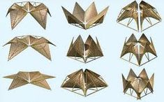 Structure, Ming Tang's temporary shelter people Folding Bamboo Houses by Ming Tang Kinetic Architecture, Folding Architecture, Temporary Architecture, Bamboo Architecture, Art And Architecture, Folding Structure, Bamboo Structure, Modular Structure, Shelter Design