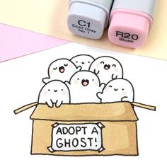 Which Spooky would you take home? Please check out the link in my bio to Adopt a Ghost! We're doing a Kickstarter Campaign to turn the Spooky Plushies into reality! that means, we can only make it, if we reach our funding goal by January 12! ✨ So if you love Spooky, adopt your ghost today and spread the word! Spooky will be eternally grateful! ••• #kawaii #spookymccute #spooky #plushie #plush #copicmarkers #doodle #かわいい #可愛い #cute