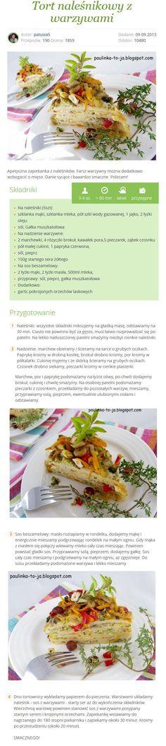 Naleśnikowy tort z warzywami