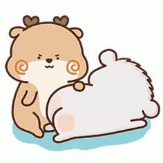 Cute Cartoon Images, Cute Couple Cartoon, Cute Love Gif, Cute Love Pictures, Cartoon Gifs, Cute Cat Gif, Cute Cartoon Wallpapers, Gif Mignon, Gif Lindos