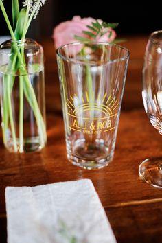 A custom beer glass