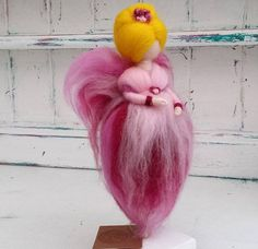 Needle Felted Fairy Waldorf Inspired Wool Fairies Pink