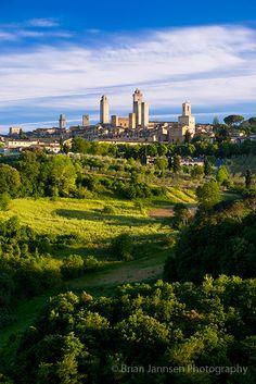 San Gimignano, Tuscany, Italy by Brian Jannsen