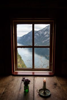 Incredible view from an attic Window, Stigen Gard, Norway photo via lisa - Modern Attic Window, Window View, Life Is A Gift, Looking Out The Window, Through The Window, Cabins In The Woods, Windows And Doors, Beautiful Places, World
