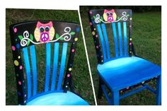 I painted this chair for a 4th grade classroom